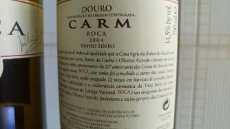 BOCA vinho CARM (rótulo verso).